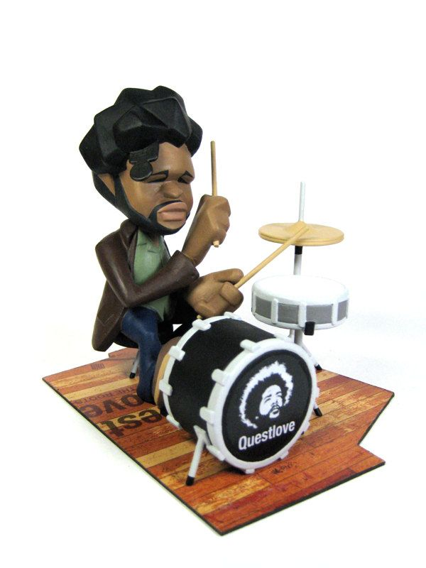 Questlove Bobblehead figure on Toy Design Served