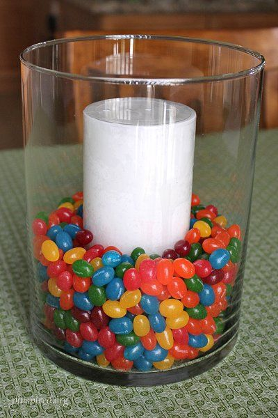 jelly bean candle decoration