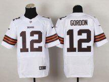 Cleveland Browns #12 Josh Gordon Road White Jersey
