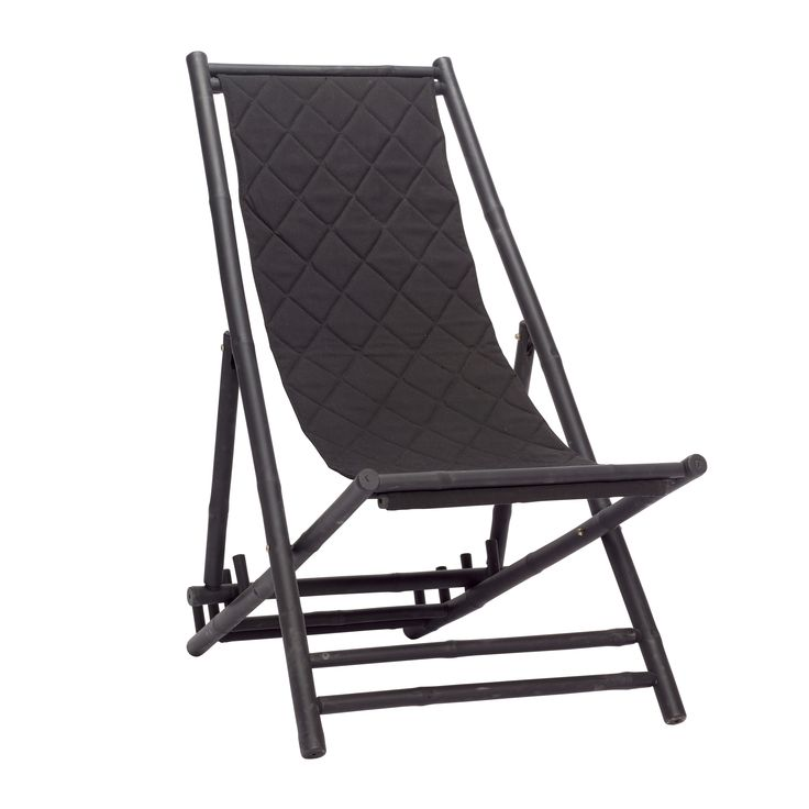 Black bamboo lounger. Product number: 870206 - Designed by Hübsch