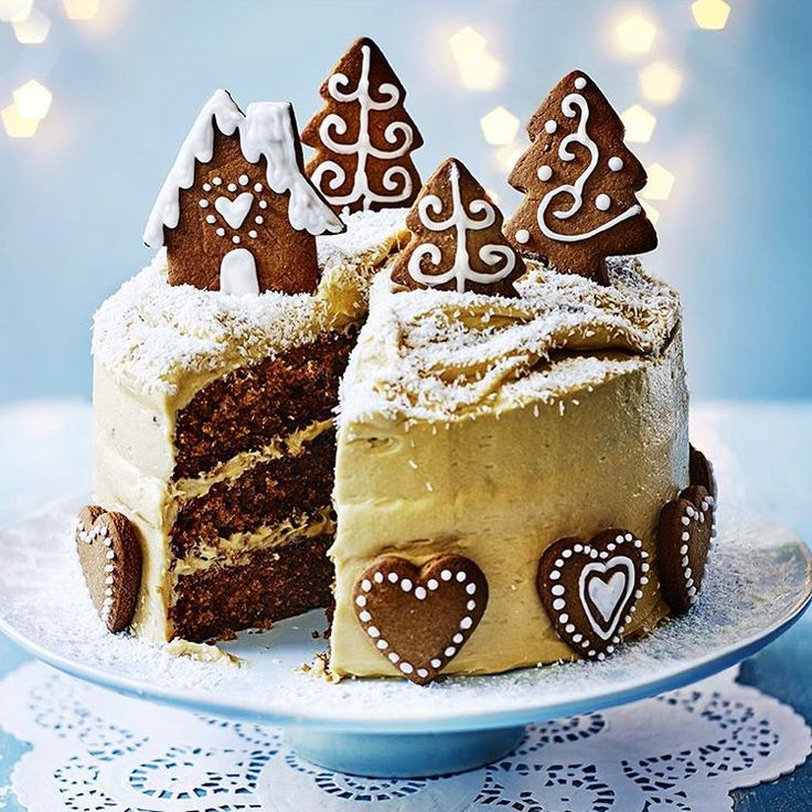 """""""Have you made our amazing Christmas cover star yet? Gingerbread cake with caramel icing - we're celebrating gingerbread all month at @bbcgoodfood…"""""""