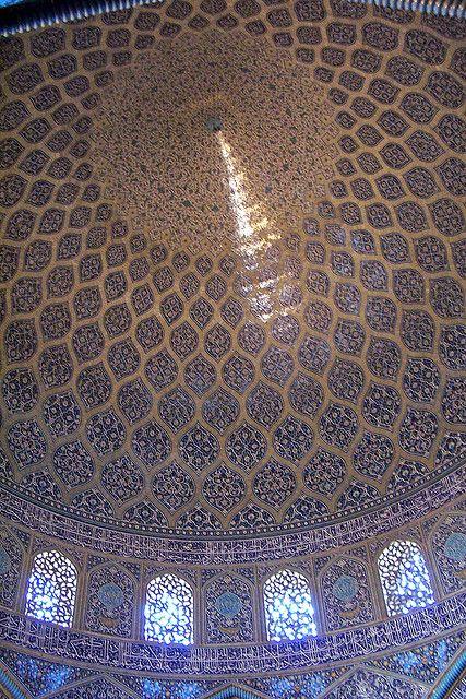 Reflex a la cúpula semblant a una cua de paó, Mesquita Xeic Lotf Allah, Isfahan