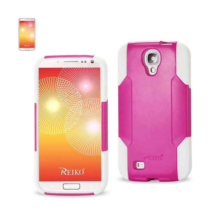 Reiko Samsung Galaxy S4 Hybrid Heavy Duty Case White Pink | MaxStrata