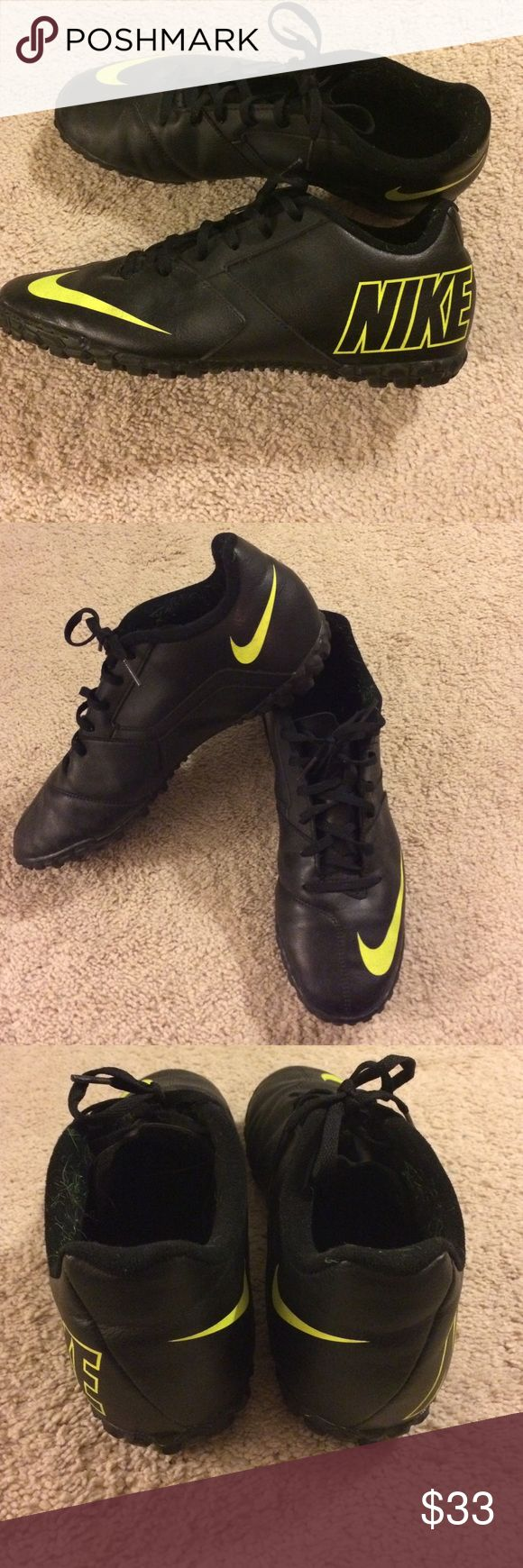 Nike Bomba II Turf shoes, trainer's size 10.5 Only worn once! The Nike Bomba II features the ideal turf soccer shoe for the competitive small sided player who wants a soccer shoe with excellent shot control, traction and a classic upper look. Nike Shoes Athletic Shoes