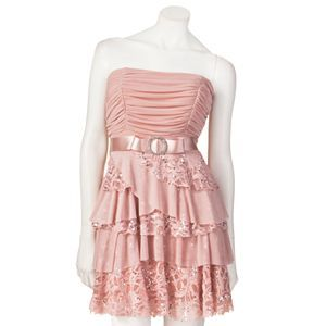 Peachy champagne layered dress. Love this with cowgirl boots and a blue jean jacket with BOOTTSS!