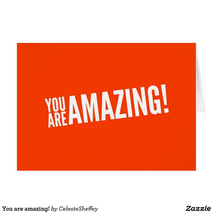 You are amazing! card (sold 5 - Missouri) Thank you!!