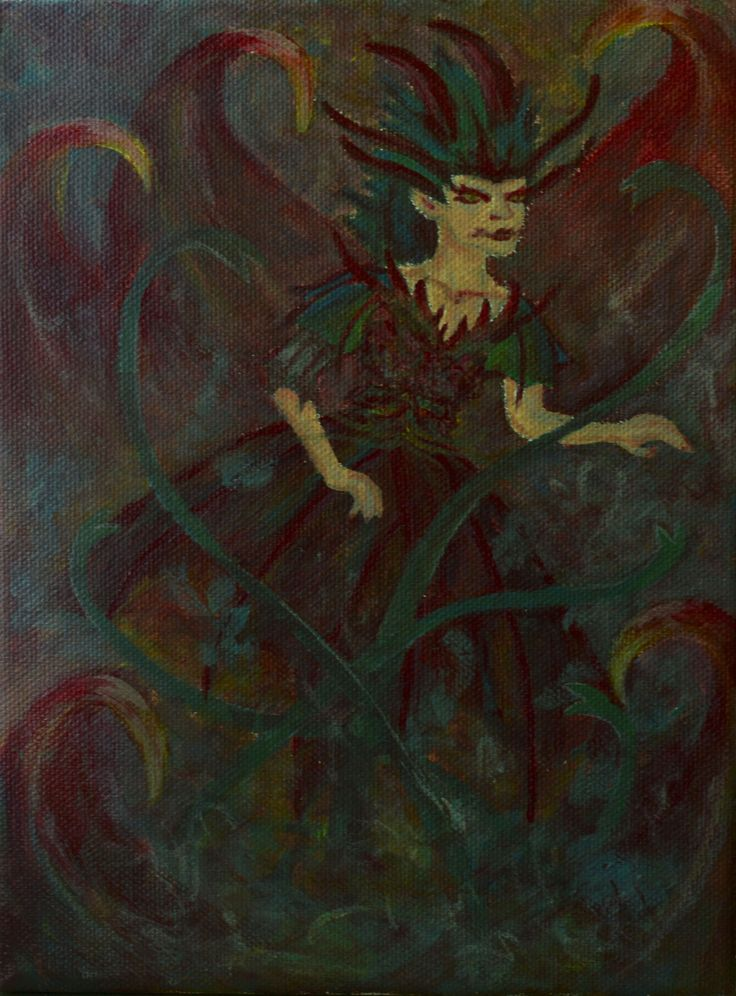 Dragon  Enchantress - acrylic painting on stretched canvas 03.06.2017