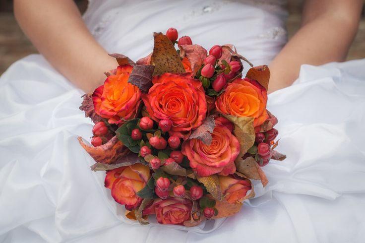Осенний букет невесты.
