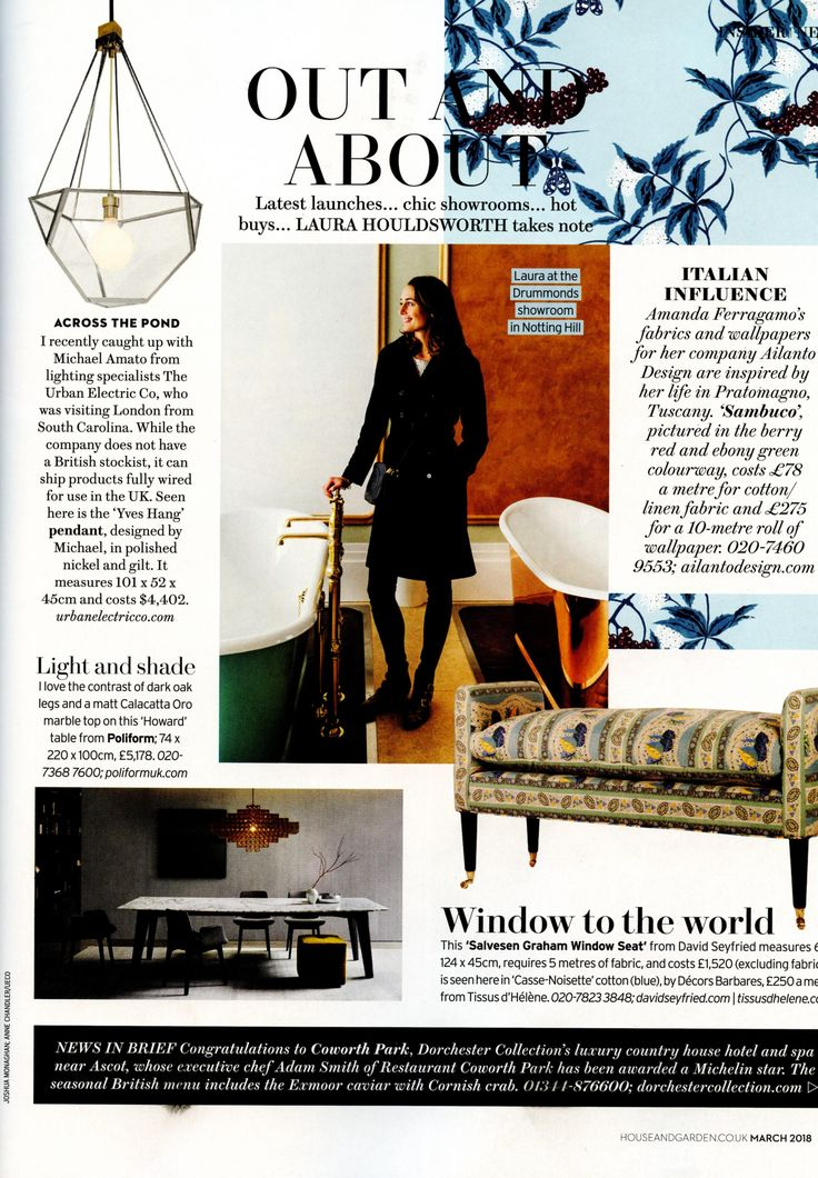 Laura Houldsworth is pictured here at the Drummonds showroom. drummonds-uk.com Homes & Gardens March 2018