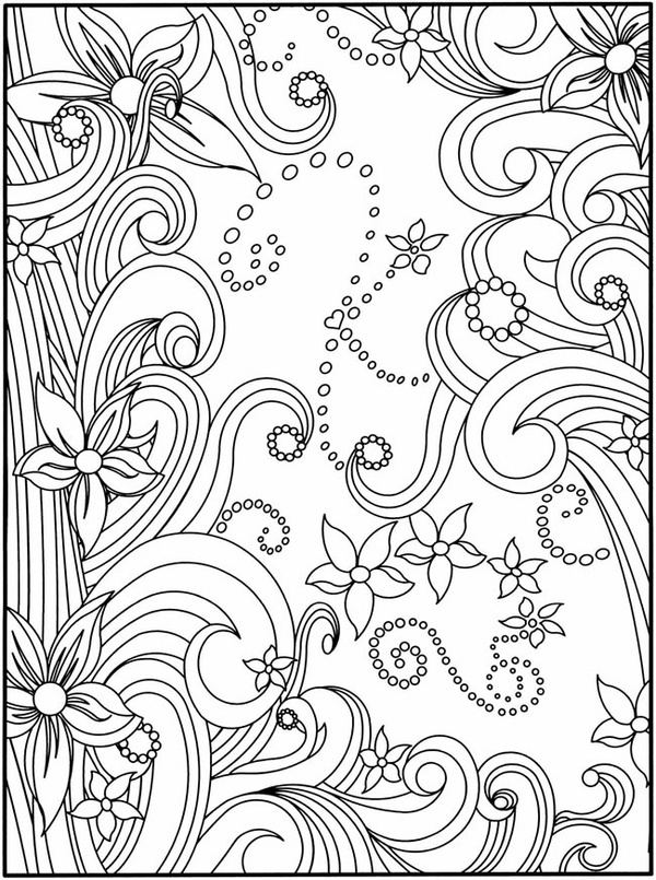 Dover Publications- coloring pages: Free Printable Colors Pages, Dovers Public, Printable Free Adult Colors, Doodle, Free Books Printable Colors, Adult Colors Books Pages, Gardens Parties, Flowers Design, Kid