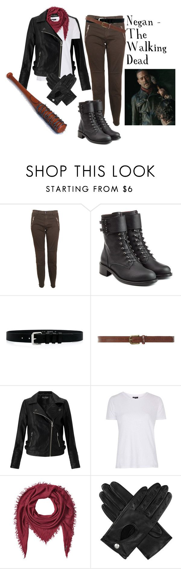 """*unisex* Negan Costume."" by queen-leo-1999 ❤ liked on Polyvore featuring J Brand, Philosophy di Lorenzo Serafini, IRO, Dorothy Perkins, Miss Selfridge, Topshop, Faliero Sarti and Dents"