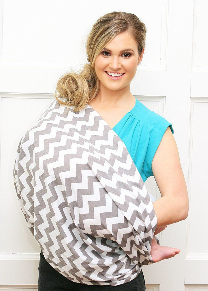 Fussing with your nursing cover in public is a thing of the past, thanks to the new Itzy Ritzy Nursing Happens Infinity Breastfeeding Scarf ($25). Just throw on the scarf (it's available in three colors and wraps just like a traditional infinity scarf), and head out for the day. When you're ready to nurse, unwrap it and sling it diagonally across your body and you've got your very own nursing cover! Genius!