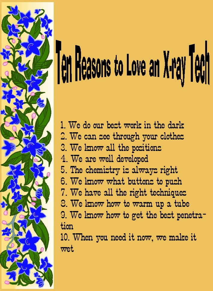 10 reasons to love an x-ray tech! | my work life - interventional, Human Body