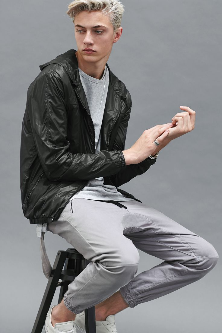 """strangeforeignbeauty: """"Lucky Blue Smith for Stampd Essentials Collection """""""