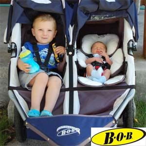 BOB double jogger strollers are the perfect fit for any parent on the path to fitness.