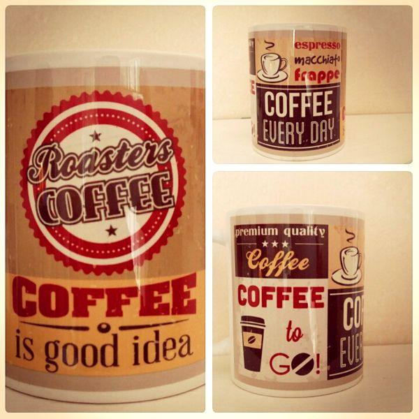 Retro stílusú kávés montázs. Coffe is good idea.