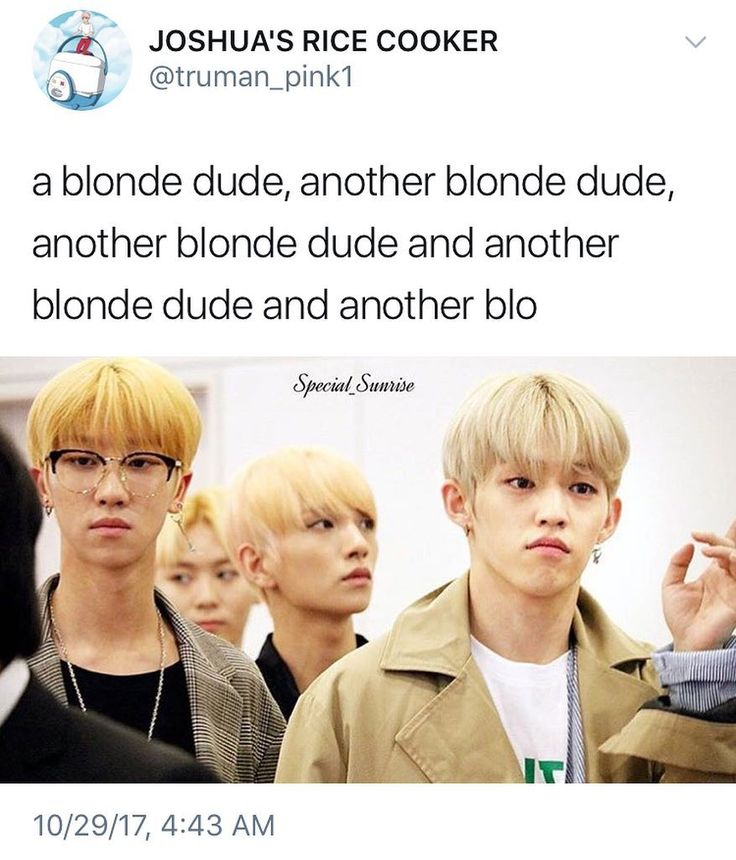seventeen's sub unit: the blonde boys