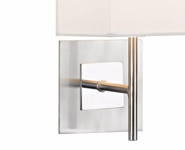 Germany inspired...Wall Bracket Frame Only, Satin/Polished Chrome Finish, Unswitched.  Finish: Satin Chrome Bulb: 1x E27 (ES) GLS 60w Excluded Switch: Rocker Class: 1 - Earthed Depth (cm): 14 Height (cm): 29 Drop (cm): N/A Width (cm): 12 Diameter (cm): N/A Weight: 0.527 Kg