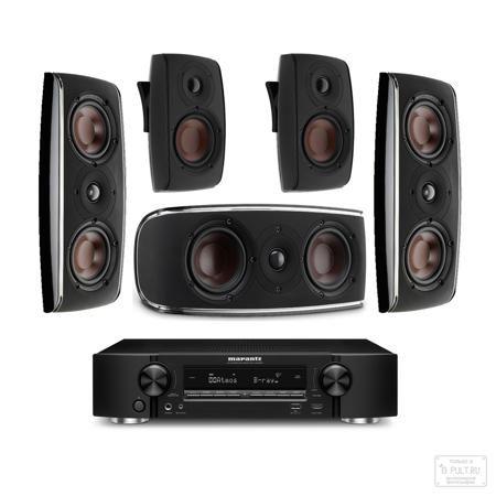 PULT.ru №39 (Marantz + Dali)  — 244395 руб. —   Состав комплекта: AV ресивер Marantz NR1606 black (1 шт.) Dali Fazon LCR black (3 шт.) Dali FAZON SAT black (2 шт.)  Откройте для себя новое, потрясающее измерение окружающего звука с помощью AV ресивера Marantz NR1606, оснащенного декодером нового формата Dolby Atmos. Благодаря Dolby Atmos вы получаете такой же поразительный 3D эффект, как в лучших кинотеатрах, со звуковым полем над головами зрителей, кардинально расширяющим звуковое…