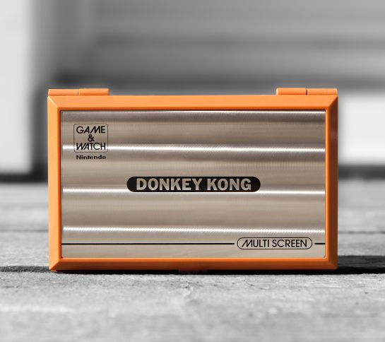 Donkey Kong Game & Watch. The shiny cover gives me an instant feeling of nostalgia. When I was a kid this was on my bedside drawer every evening, and playing the simple LCD game was the first thing I did when I woke up.