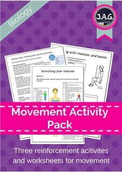 Activities for students to support teachers and reinforce learning around movement, muscles and bones.The package contains step-by-step guides for practical activities, practical worksheets, key words, and a planning sheet.  Also avaliableCirculation activity packageHuman body systems flip chart
