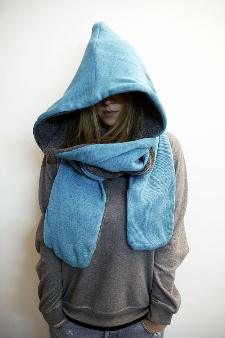 Sciarpa cappuccio double face : Sciarpe, foulard, cravatte di thebabbionz