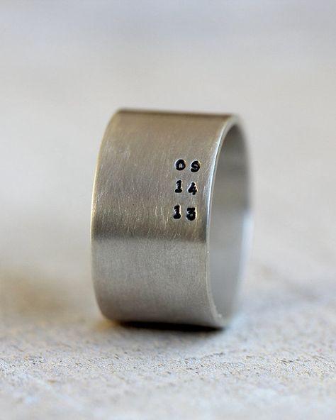 Personalisierte Herren-ring von PraxisJewelry auf Etsy