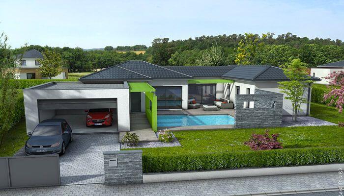 Le plan de cette maison contemporaine, à l'architecture originale, conjugue convivialité et intimité, avec des espaces indépendants. plan maison gratuit