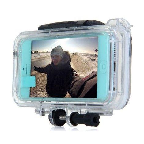 Coques / Protections iPhone 5 / 5S - Kit camera de sport boitier étanche 10 m haute performance pour iPhone 5 et 5S - nemtytab.com 49,00 EUR