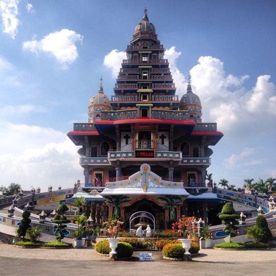 Medan, North Sumatra. A church that looks like a Hindu Temple