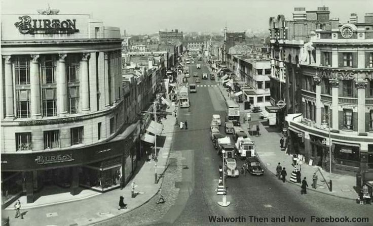 Elephant and Castle 1956 Here is an excellent rare old picture looking down London road.and showing the old Burtons building in all its glory
