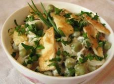 Салат с омлетом - рецепт с фото / Простые рецепты