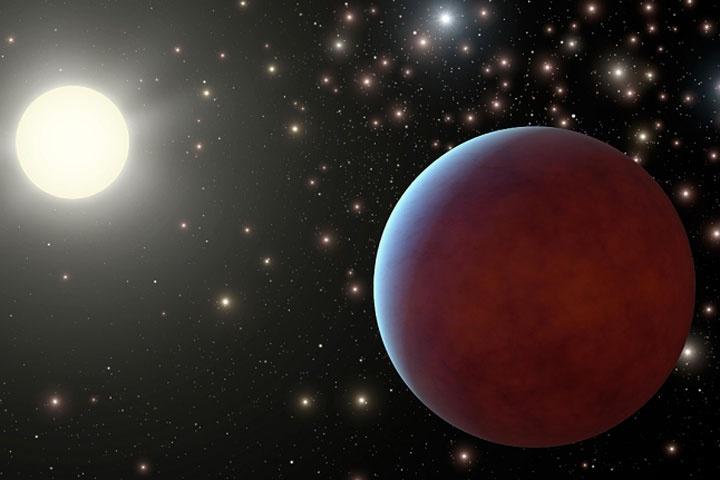 Descubren dos planetas gaseosos gigantes. La Nasa difundió la imagen en la que se encontraron los planetas alrededor de estrellas.