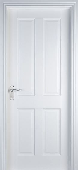 internal & interior doors | White Doors - Solid Pre-Primed Doors | 4 Panel (40mm)