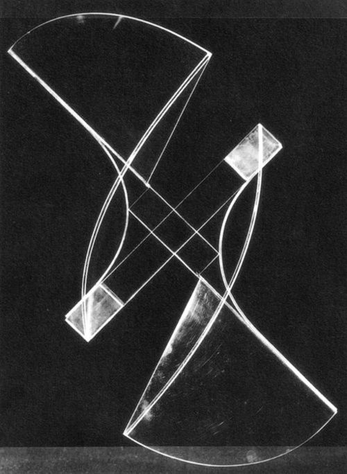 Naum Gabo, Square Relief , Plastic on metal base, 1920