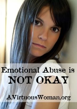 Emotional Abuse | A Virtuous Woman
