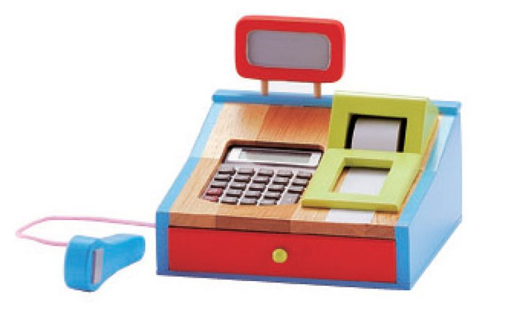 Deluxe Toy Cash Register : Images about toy cash register with scanner on