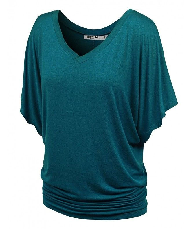 8e6b7f9cea8d Womens V Neck Short Sleeve Tie Dye Drape Dolman Top - Made In USA -  Wt1038_teal