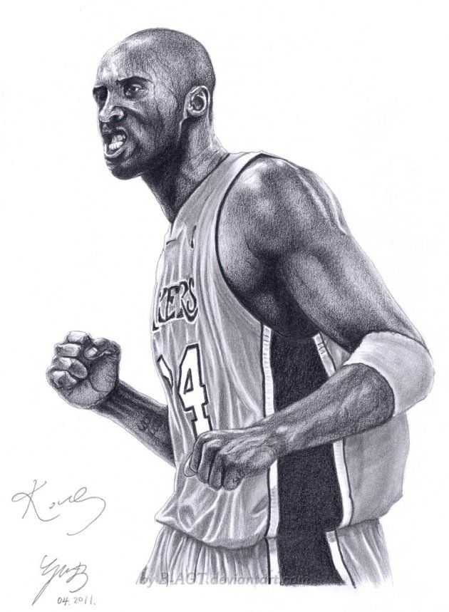 Pretty dope sketch of the Black Mamba and is a good screen saver for any Kobe fan. Much appreciation to one of the best ever.