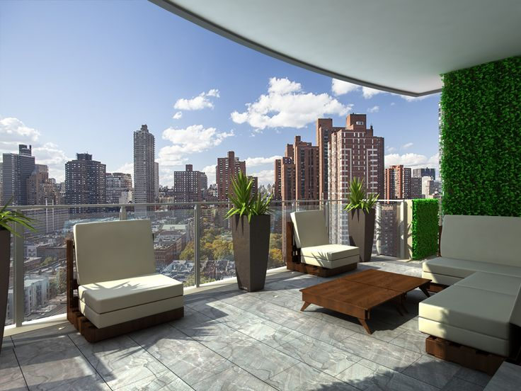 17 best images about large condo terrace designs on pinterest for Condo balcony furniture
