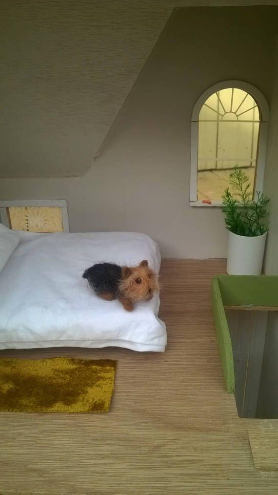 Miniatura hechos a mano Yorkshire Terrier OOAK perro aguja de