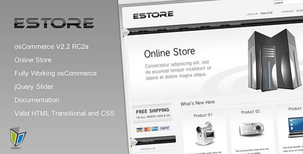 EStore - osCommerce Shopping Cart Template   Best Oscommerce