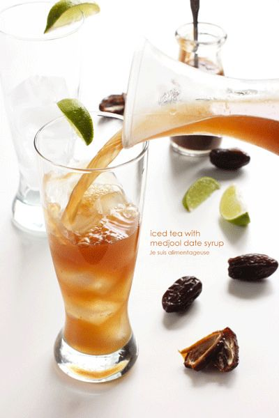 Iced Tea with Medjool Date Syrup | Je suis alimentageuse | #summer #drinks #dates