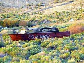 SS Minnow in the desert (near Mojave).