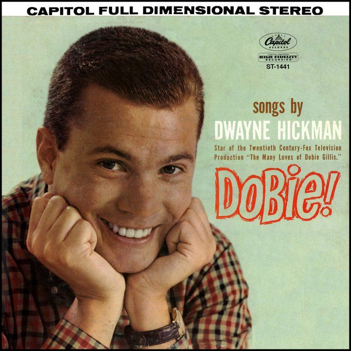 """Dobie!"" (1961, Capitol) by Dwayne Hickman.  Only known LP by the actor who played Dobis Gillis on TV.  Includes the single ""I'm A Lover, Not A Fighter."""