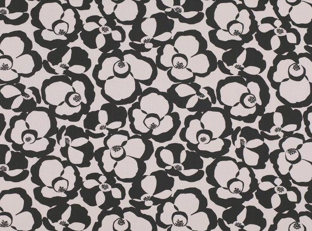 Makela Mono Onyx - Makela - Contemporary Print : Upholstery Fabrics, Prints, Drapes & Wallcoverings