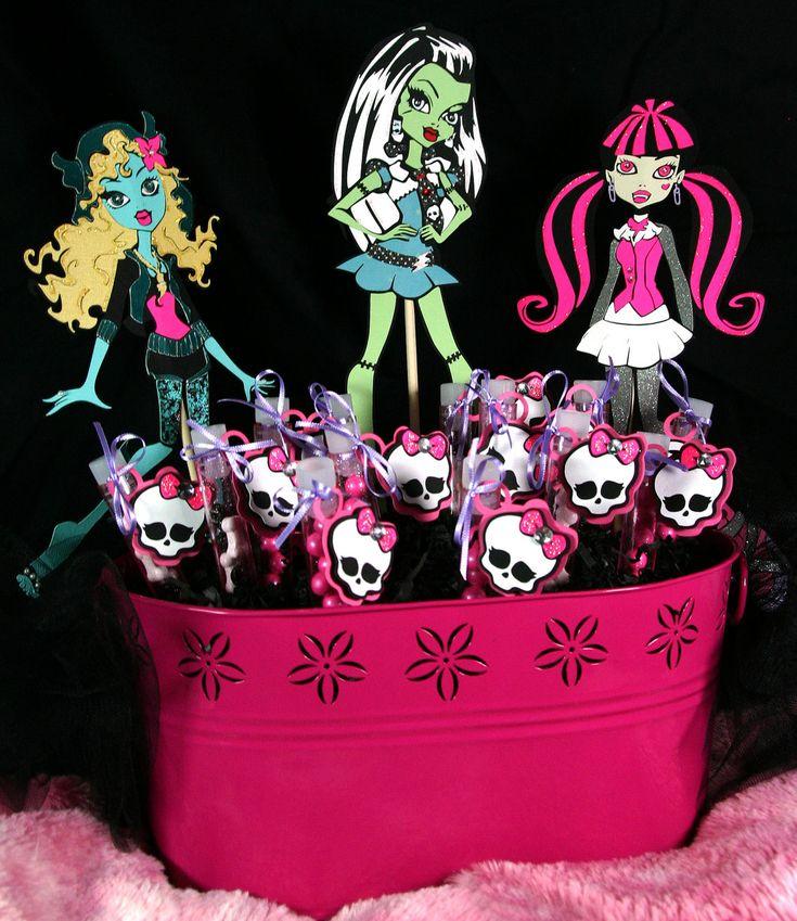 Monster High Birthday Centerpiece Decoration -- Skull -- Girl -- Princess -- Skullette -- Pink Black Purple. $69.99, via Etsy.