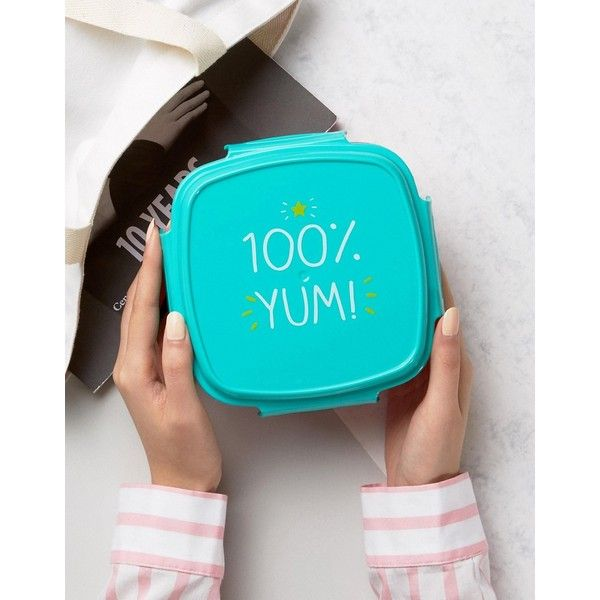 Happy Jackson 100% Yum Lunch Box ($15) via Polyvore featuring home, kitchen & dining, food storage containers, multi, plastic pencil case, compartment lunch box, plastic pencil pouch, plastic lunch boxes y plastic container