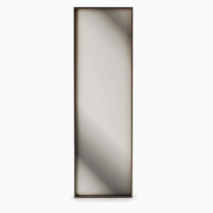 Matching standing mirror by Huppe