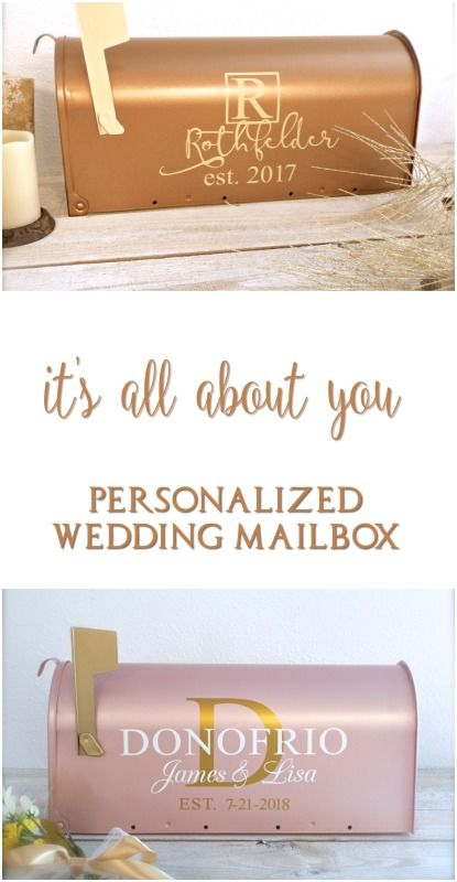 The perfect way to enhance any wedding. Custom wedding mailboxes show your style and elegance and give that perfect finishing touch. Wedding Mailbox | Wedding Card Table | Gift Table Decoration | Centerpiece Idea | Bridal Shower Gift | Wedding Decorations | Personalized Mailbox